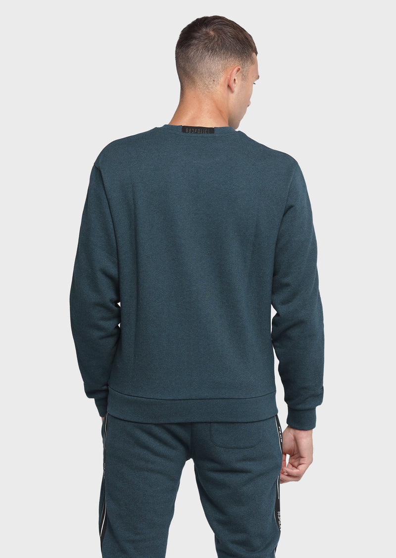 883 Police Absorb Forest Fur Mens Sweatshirt in Forest Fur Green