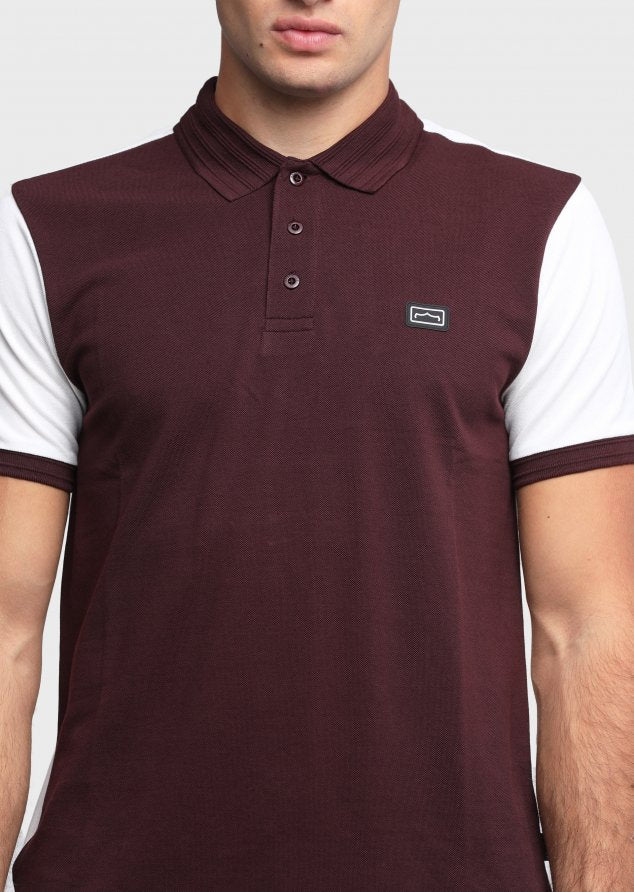 883 Police Marcella 100% cotton Polo Shirt in Burgundy