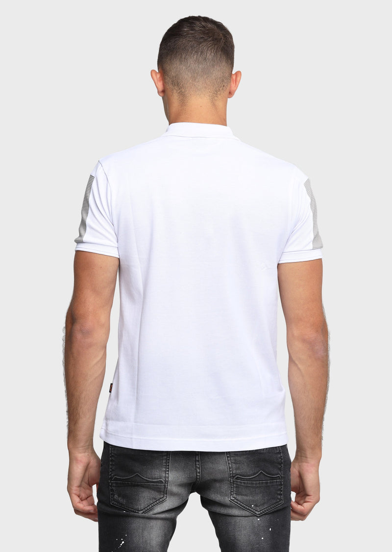 883 Police Twilled Mens 100% Cotton Polo shirt in White