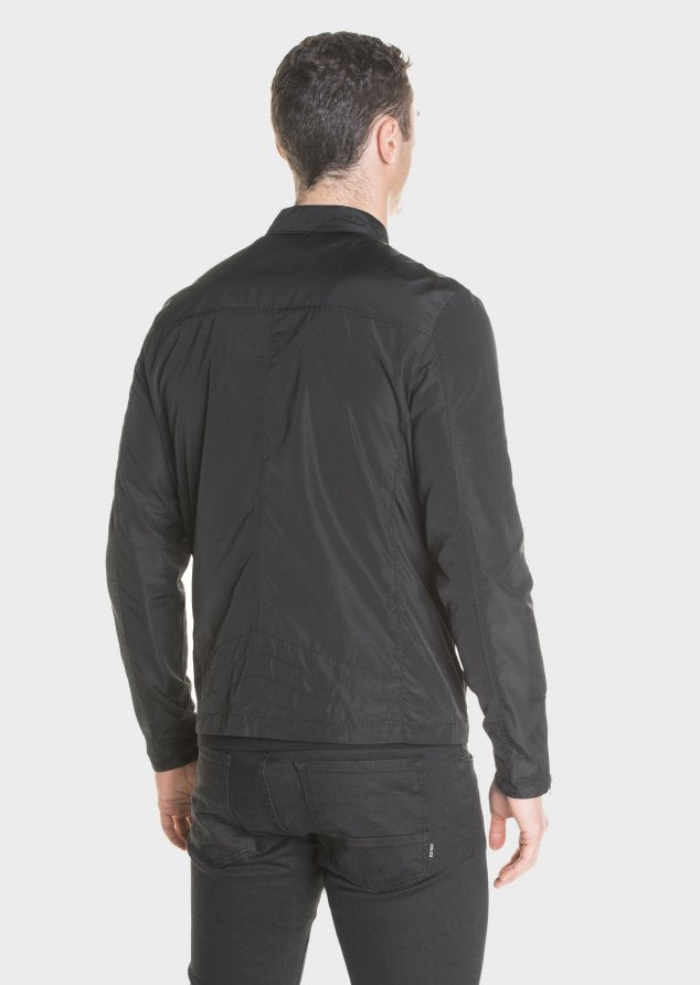 883 Police Hereford Multi Zip Pocket Lighweight Jacket in Black