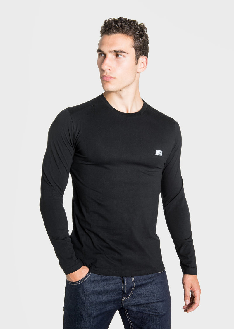 883 Police Host Long Sleeved T-Shirt in BLACK