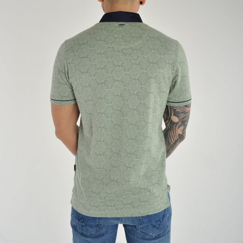 Bewley and Ritch 'Astro' Polo Shirt in Green Print