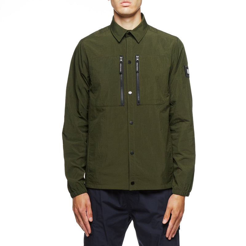 Weekend Offender Nicky Eyes Over shirt Jacket in KHAKI