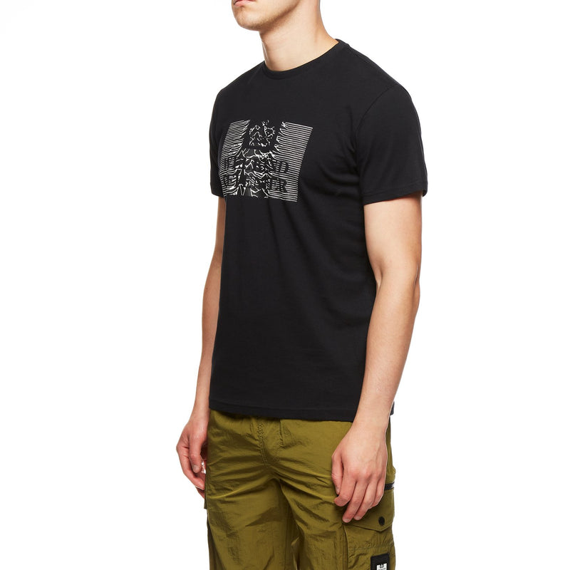 Weekend Offender Unknown Pleasures Casual Lads T-Shirt in BLACK