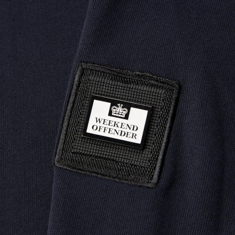 Weekend Offender Robore 1/4 zip sweatshirt in Navy