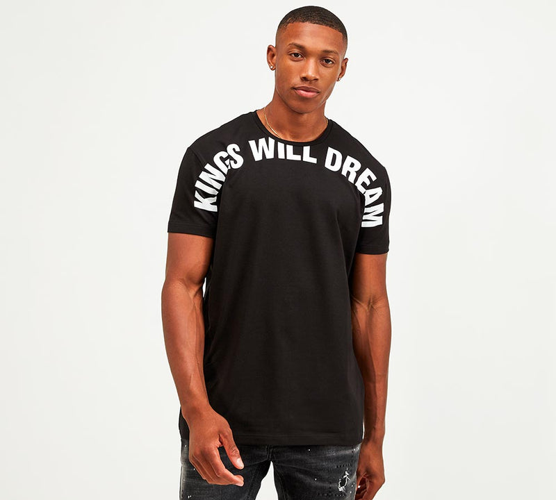 Kings Will Dream Beseck Tee shirt in Black White writing