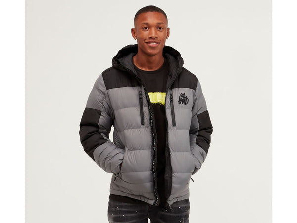Kings Will Dream Ripstop Boden Full Zip Hooded Jacket Charcoal