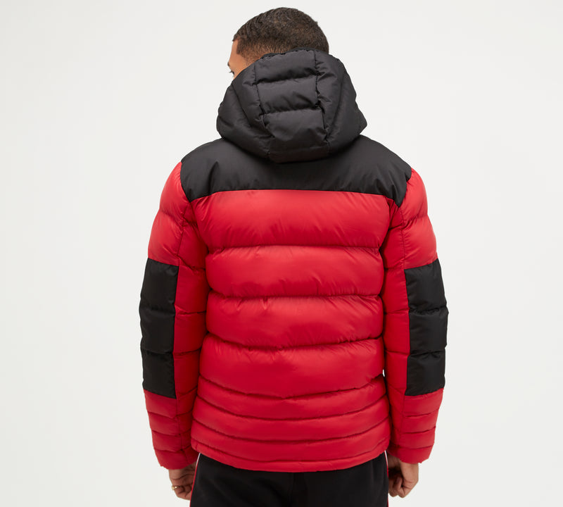 Kings Will Dream Winter Padded Hooded Boden Jacket in Red