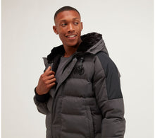 Load image into Gallery viewer, Kings Will Dream Faux Fur Hooded Puffa Jacket Branson in Charcoal Grey