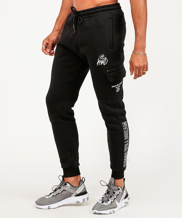 Kings Will Dream Carso Mens Logo Joggers in Black