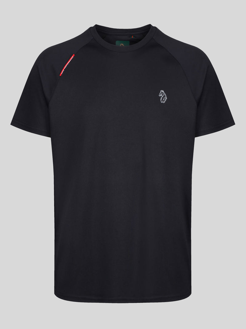 Luke Crunch Sport Performance Reflective T-Shirt Tech Black