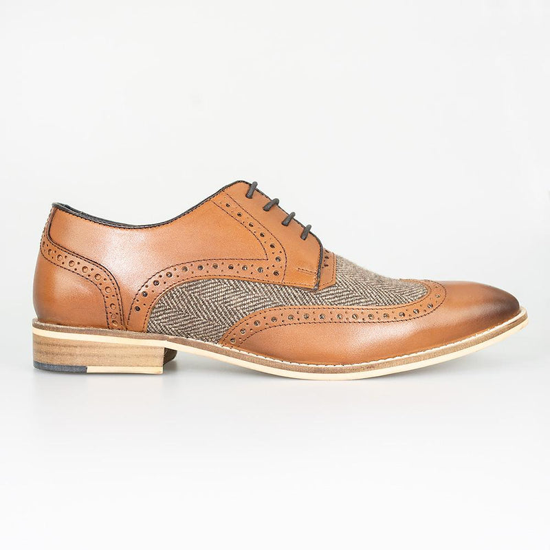 Cavani William Tan Signature Dress Smart Shoes