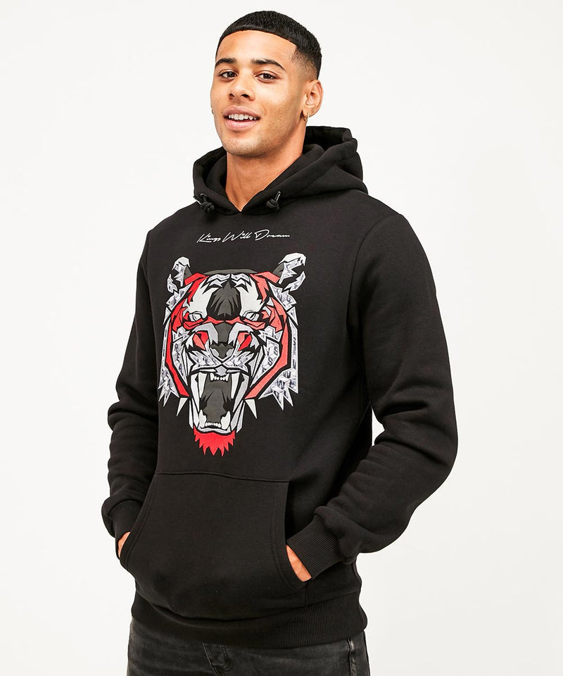 Kings Will Dream Demon Over the Head Hoody New in Black with Red