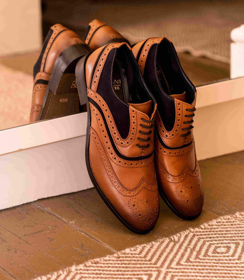 Cavani Harry 2 Tan Signature Dress Smart Shoes Brown
