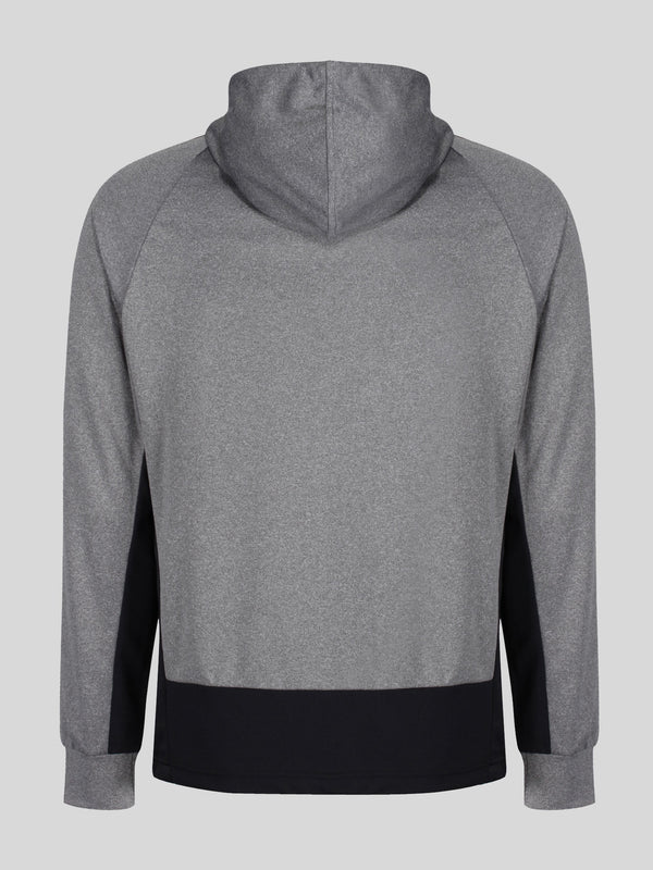 Luke Performance Key Tech Red zip through hoody in Grey Marl