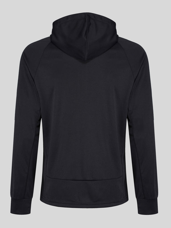 Luke Performance Key Tech Red zip through hoody in Black