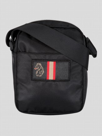Luke Iconic lion head embroidery Cross Body Bag Touchdown BLACK