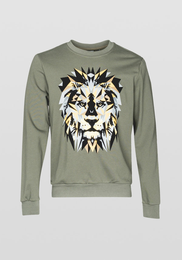 Antony Morato Regular Fit Lion Print Am 0737 Sweatshirt in Tundra
