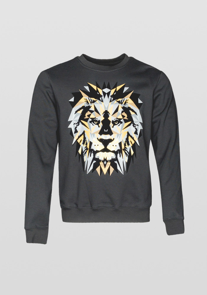 Antony Morato Regular Fit Lion Print Am 0737 Sweatshirt in Black