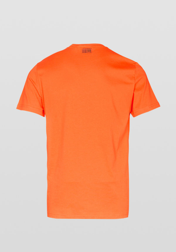 Antony Morato Regular Fit Glossy Print Stretch Cotton T-shirt Am 834 ORANGE