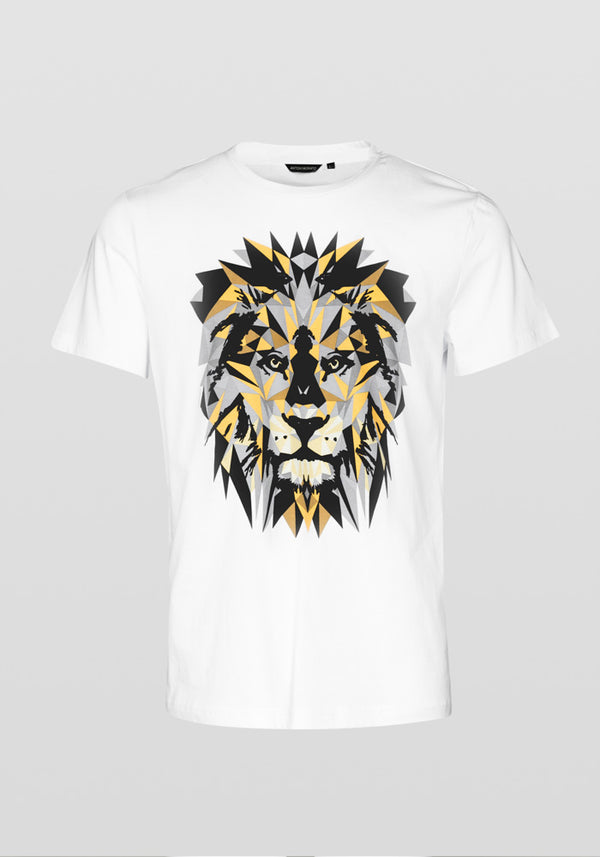 Antony Morato Regular Fit Lion Print T-shirt Am 887 White