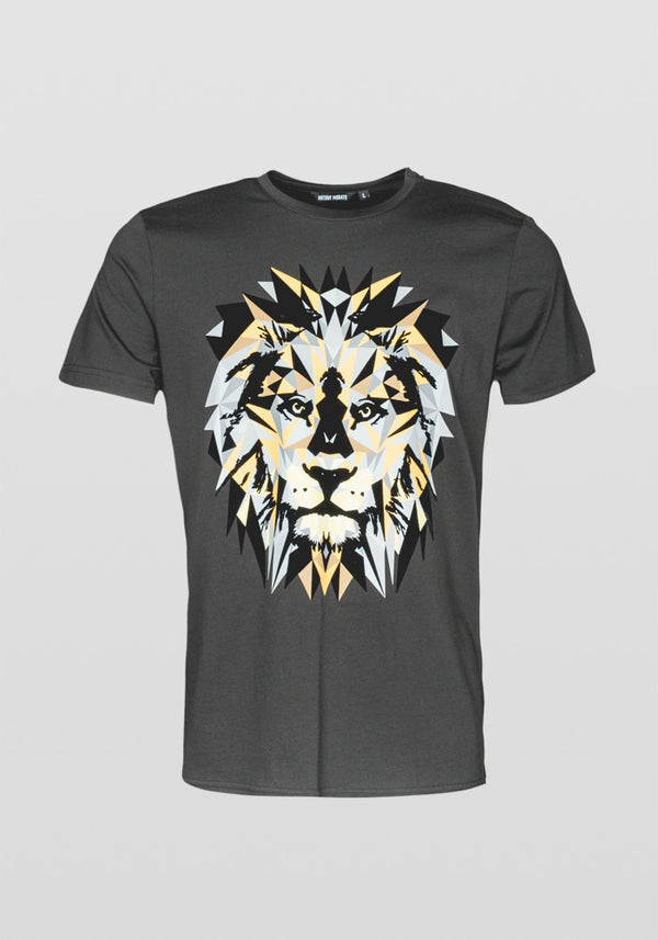 Antony Morato Regular Fit Lion Print T-shirt Am 887 Black