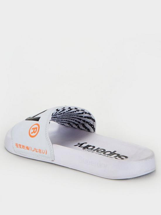 Superdry Mf3108st Classic Pool Sliders - White