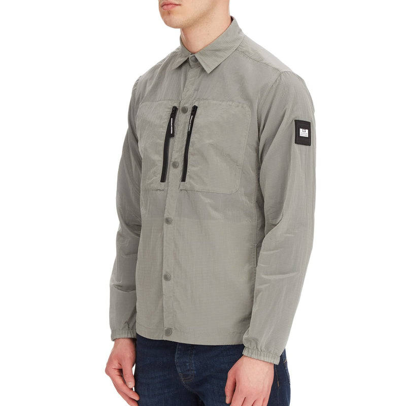 Weekend Offender Nicky Eyes Ripstop Casuals Over-Shirt in Bullet Grey