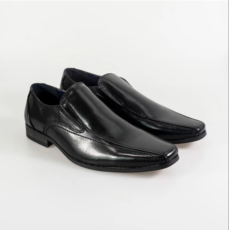 Cavani Strata Slip On Smart Dress Shoes in Black