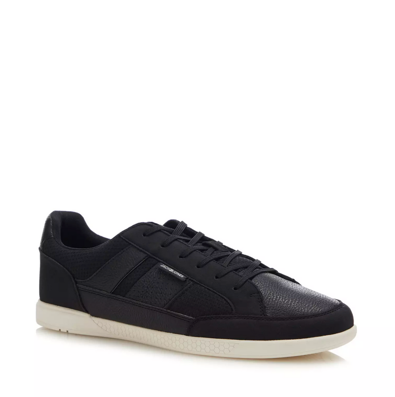 Jack & Jones Byson Textured Leather Lace Up Sneaker shoes 2020 Antracite