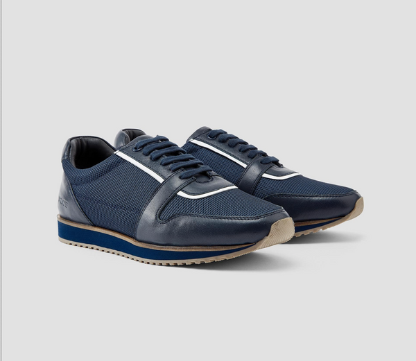 883 Police Sylas mens Sneaker Trainers in Navy Blue