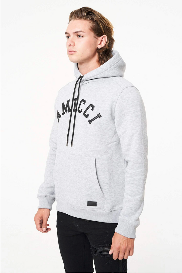 Amicci Collegiate Mens Heavy Winter Hoody Modena GREY
