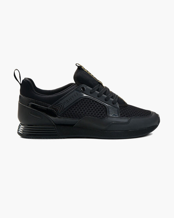 Cruyff Maxi is a rich multi-material sneaker with a sporty appearance in Black