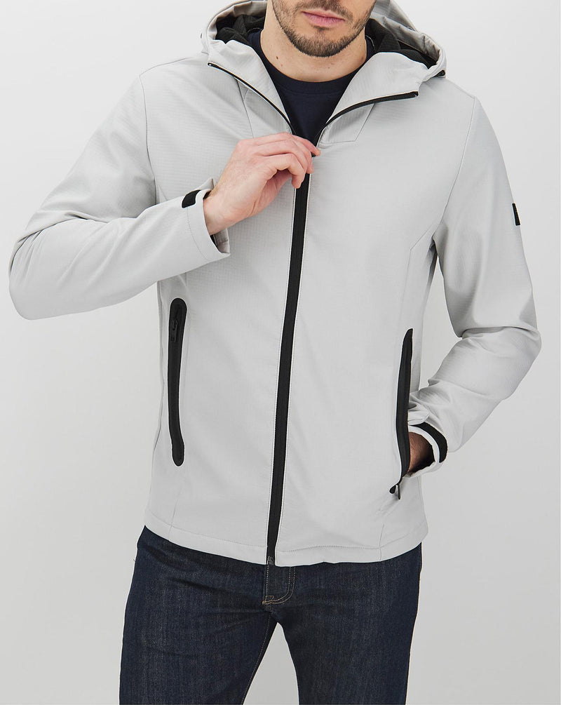 Jack & Jones Pearce Technical Jacket with Hood In Grey