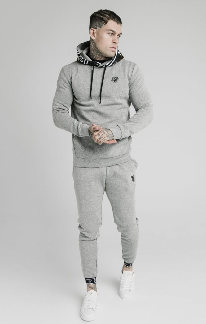 SikSilk Pleated Elastic Cuff Jogger - Grey Marl Ss-16745