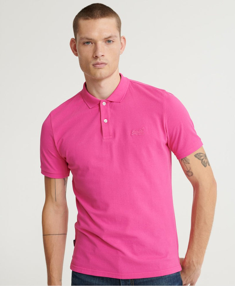 Superdry Organic Cotton Micro Lite Pique Polo Shirt - Pink