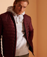 Load image into Gallery viewer, Superdry Fuji Mens Padded Full Zip Jacket 2020 Cabernet