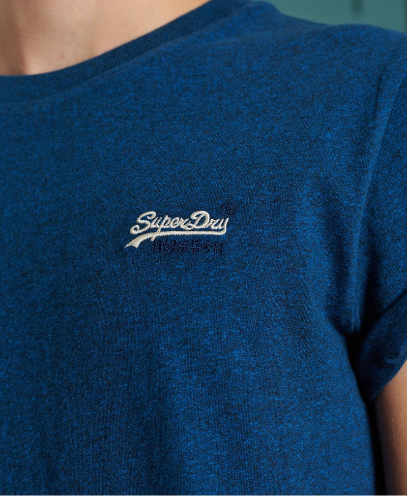 Superdry Organic Cotton Vintage Embroidery T-Shirt 2020 in DARK BLUE