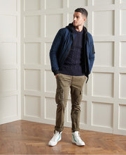 Load image into Gallery viewer, Superdry ribbed crew neckline, cuffs and hem jumper Jacob 20 NAVY