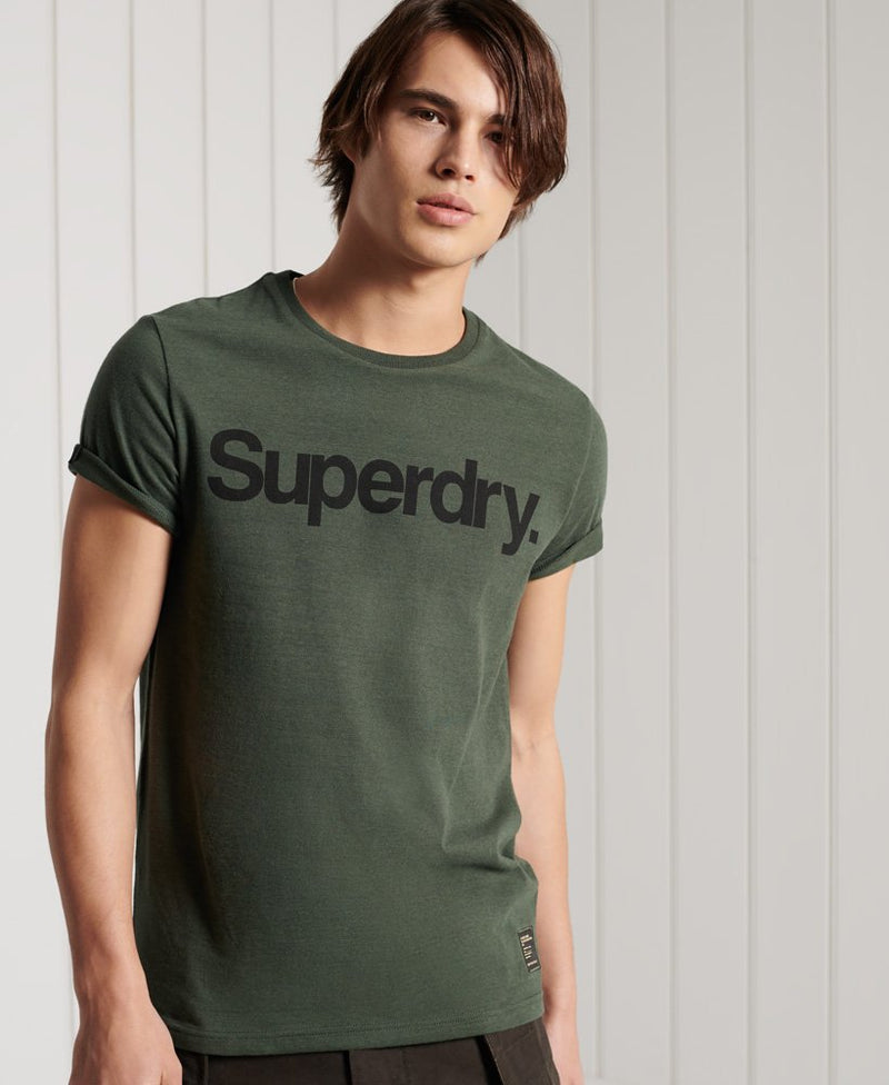 Superdry Military Graphic Logo Print Mens Military Graphic T-Shirt Olive Black
