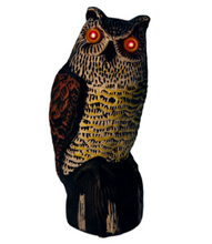 Load image into Gallery viewer, DecoyCrow™ Motion Activated Scarecrow Owl Decoy with Sound and Flashing Eyes