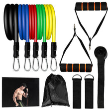 Load image into Gallery viewer, GetBuffed™ Full-Body Resistance Bands Set Yoga Pilates Abs Excercise Workout Kit 11 Pcs