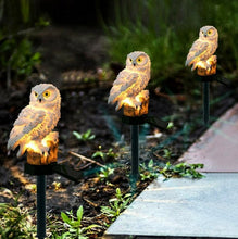 Load image into Gallery viewer, LightGuard™ Solar Owl LED Light - Waterproof Garden Lawn Landscape Owl Ornament Lamp