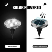 Load image into Gallery viewer, MeteorPath™ 4 Pcs Solar Powered Floor Path LED Light LED Solar Power Buried Light Under Ground Lamp Outdoor Path
