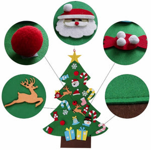 DIYTree™ Felt Christmas Tree Set 26 Pcs Kids Toddlers Creative Toy Wall Hanging Home Decoration