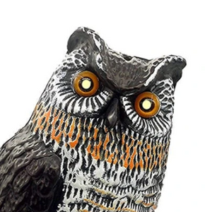 DecoyCrow™ Motion Activated Scarecrow Owl Decoy with Sound and Flashing Eyes