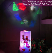Load image into Gallery viewer, FestiveLamps™ Christmas Projection Lamp Snowflake Snowman Lamp Candle Projector Night Light