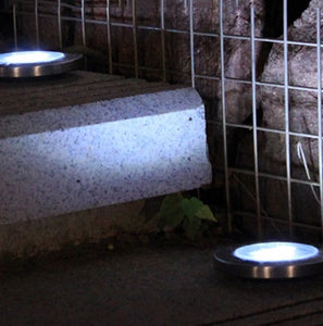 MeteorPath™ 4 Pcs Solar Powered Floor Path LED Light LED Solar Power Buried Light Under Ground Lamp Outdoor Path