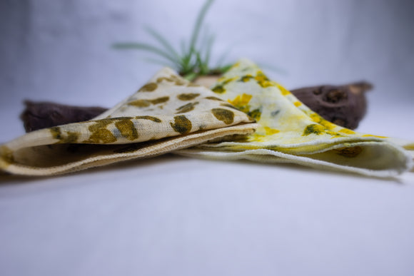 Eco-Printed Handkerchiefs