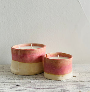 refillable handmade ceramic candles